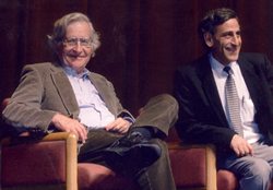 Department chair Jamal Nassar with Noam Chomsky